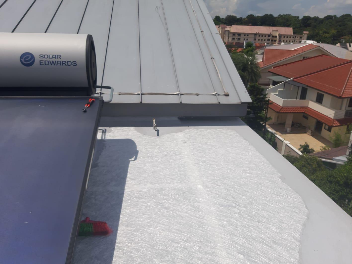 Waterproofing waterproofing roof