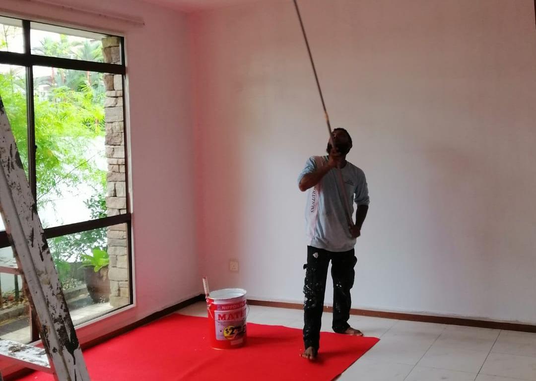 Waterproofing painting works 01
